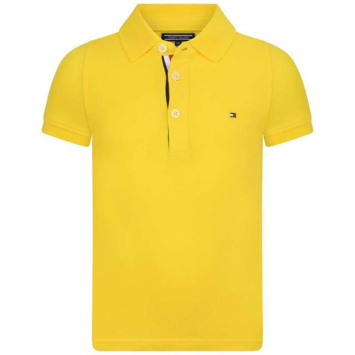 Tommy HilfigerBoys Yellow Slim Fit Polo Top