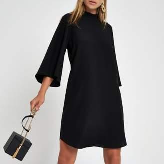 River Island Womens Black button sleeve swing dress