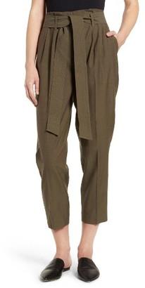 Women's Trouve Tie Waist Cargo Pants $89 thestylecure.com