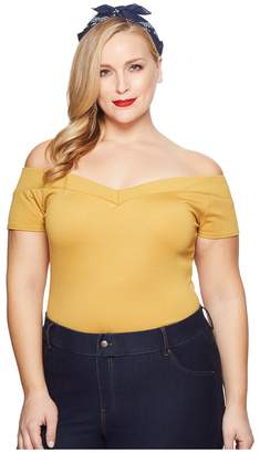 Unique Vintage Plus Size Cap Sleeve Deena Top Women's Clothing