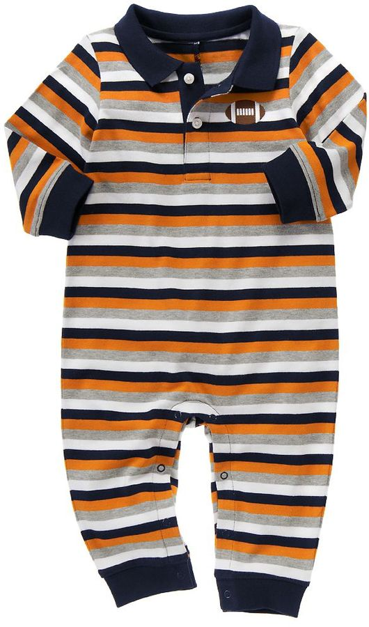 Football Stripe Polo One-Piece