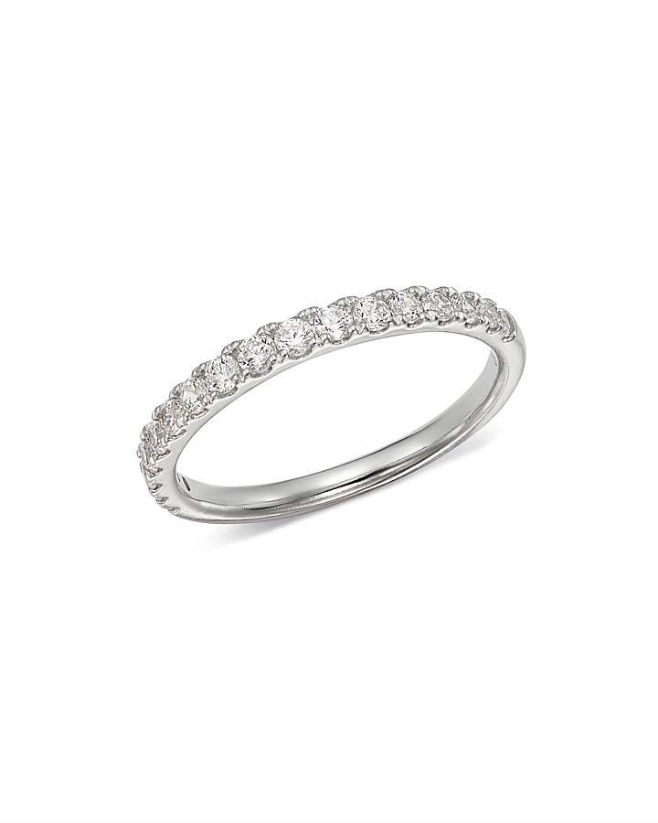 Bloomingdale's Diamond Shared Prong Stacking Band in 14K White Gold, 0.50 ct. t.w. - 100% Exclusive