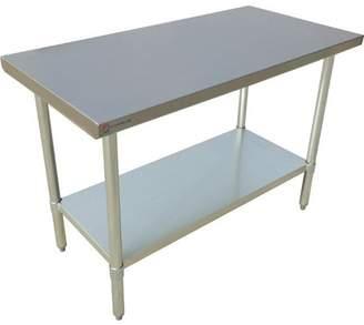 """EQ Kitchen Line Stainless Steel Restaurant Kitchen Prepare Work Surface Table 48""""Lx30""""Wx34""""H"""