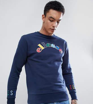 Ellesse Multi Color Logo Sweatshirt In Navy