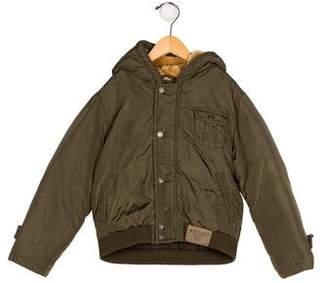 Armani Junior Boys' Hooded Puffer Jacket