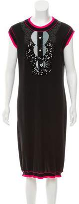 Chanel Embellished Cashmere Dress