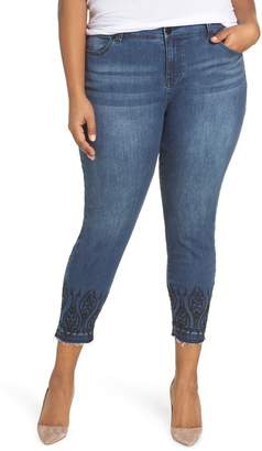 Liverpool Abby Embroidered Ankle Skinny Jeans