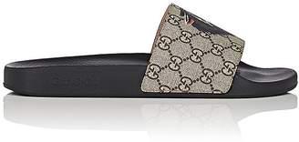 Gucci Men's Logo-Print Canvas Slide Sandals