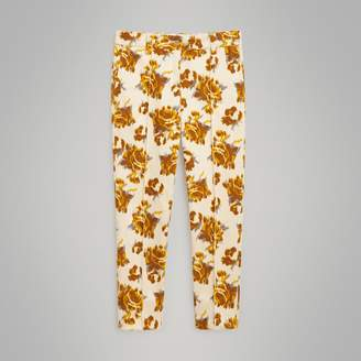 Burberry Childrens Floral Velvet Jacquard Trousers
