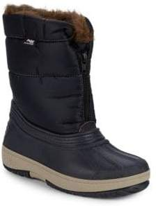 Kid's Lexi Faux Fur Lined Quilted Boots