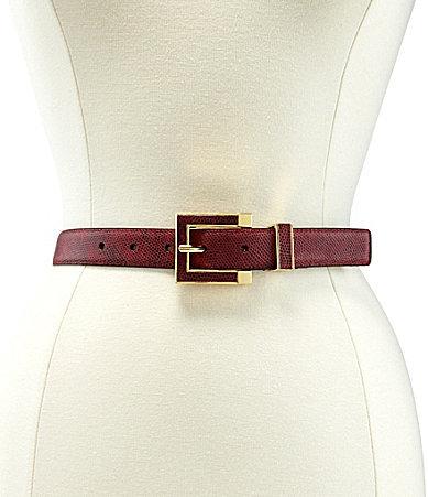 Vince Camuto Metallic Snake Panel Belt