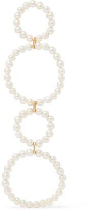 Saskia Diez Sky Holiday 18-karat Gold Freshwater Pearl Earring - White