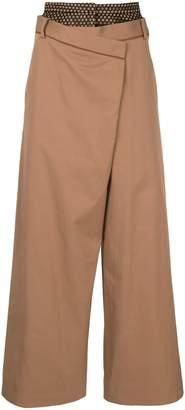 Aula layered wide-leg trousers