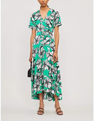 Alexis Deanna floral-print crepe wrap dress