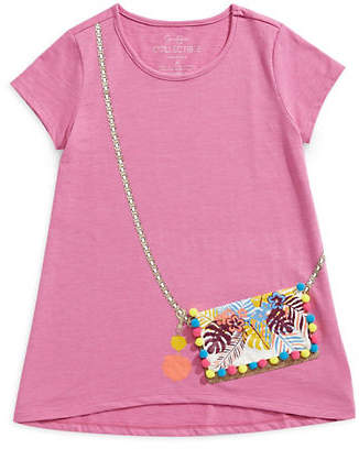 Jessica Simpson Graphic Pomm-Pom Purse Tee