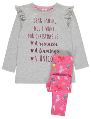 George Slogan Top and Leggings Christmas Outfit