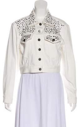 Alice + Olivia Crop Denim Jacket