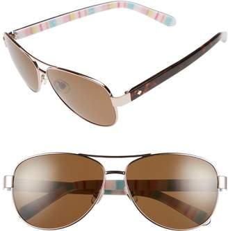 df0e90fa1e4 Kate Spade  dalia  58mm Polarized Aviator Sunglasses