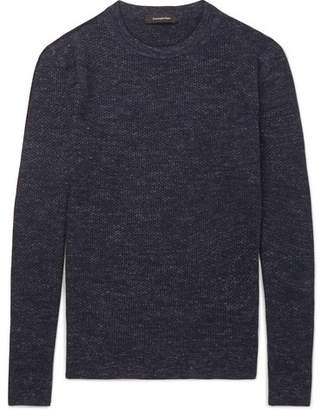 Ermenegildo Zegna Mélange Wool, Cashmere, Silk And Linen-Blend Sweater
