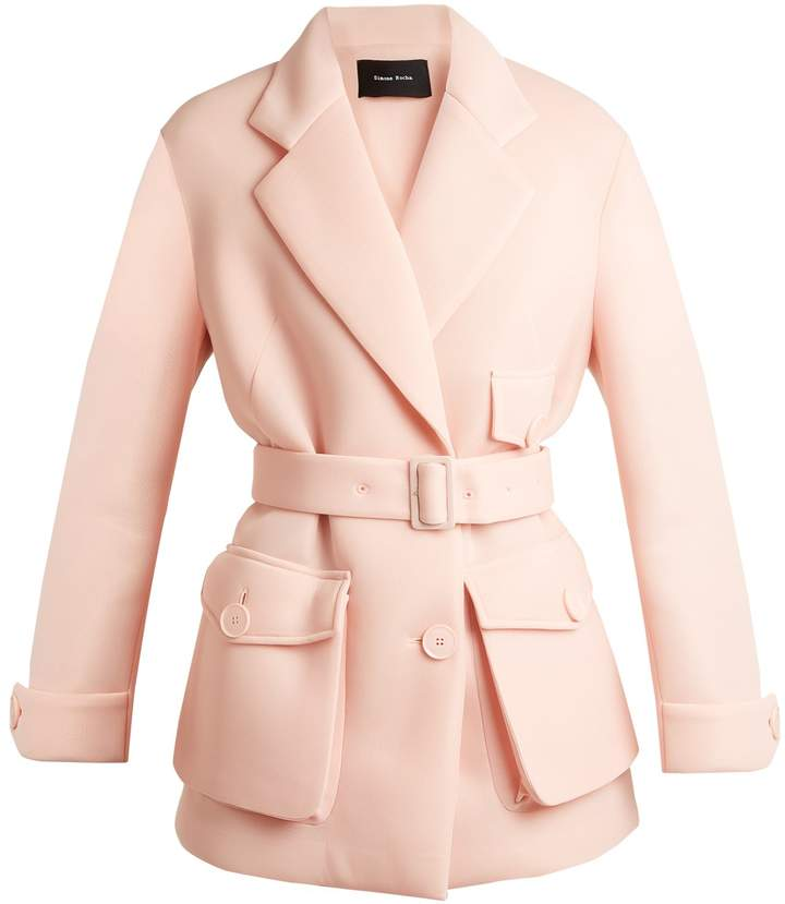 Simone Rocha Patch-pocket neoprene jacket