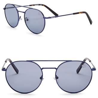 Timberland Round 52mm Polarized Sunglasses