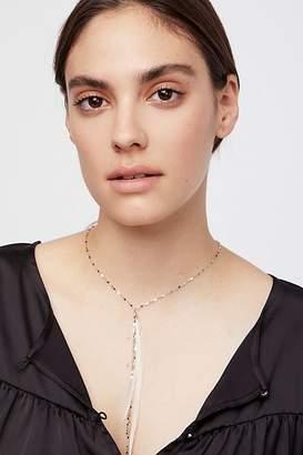 Serefina Glistening Delicate Feather Necklace