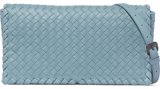 Bottega Veneta - Intrecciato Leather Shoulder Bag - Sky blue $1,950 thestylecure.com