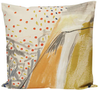Fort Makers Hand-Painted Square Pillow