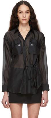 DSQUARED2 Black Voile Wrap Shirt