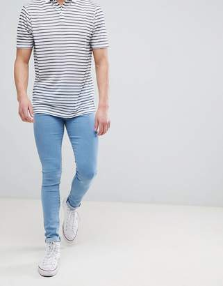 Dr. Denim Leroy Pure Light Blue Super Skinny Jeans