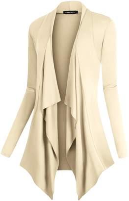 Urban CoCo Women's Vogue Long Sleeve Irregular Hem Open Front Cardigan (, XL)
