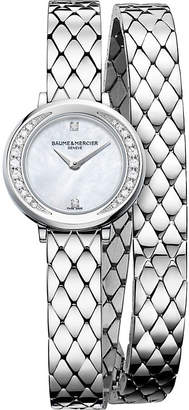 Baume & Mercier 10289 Petite Promesse steel and diamond watch