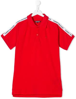 Tommy Hilfiger Junior TEEN logo trim polo shirt