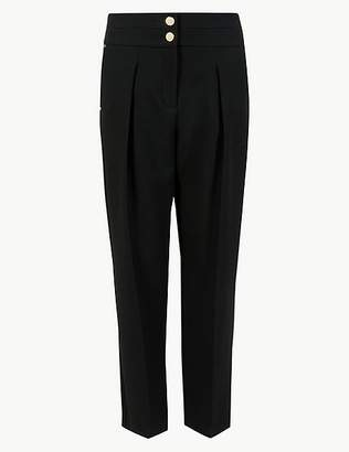 Marks and Spencer Tapered Leg Crepe Trousers