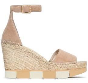 Paloma Barceló Suede Platform Wedge Sandals