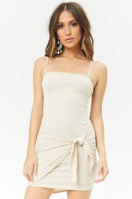Forever 21 Tie-Front Ribbed Mini Dress