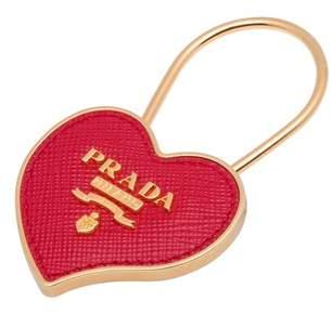 Prada Metal And Saffiano Leather Keychain