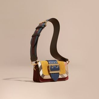 Burberry The Small Buckle Bag in Suede and House Check $1,595 thestylecure.com