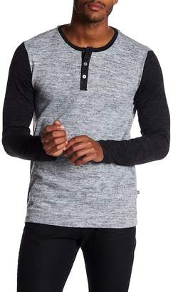 Indigo Star Raticate Knit Crew Neck Henley