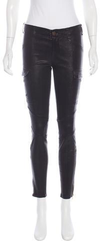 J BrandJ Brand Leather Mid-Rise Pants