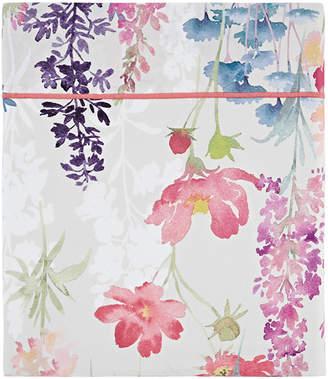 Claude Anne De Solene Babylone 200 Thread Count Floral Queen Flat Sheet