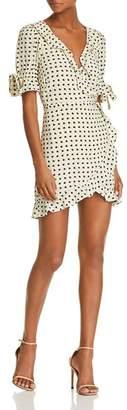 For Love & Lemons Sweetheart Mini Wrap Dress