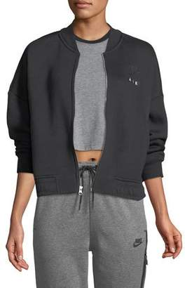 Nike Rally Zip-Front Fleece Varsity Jacket