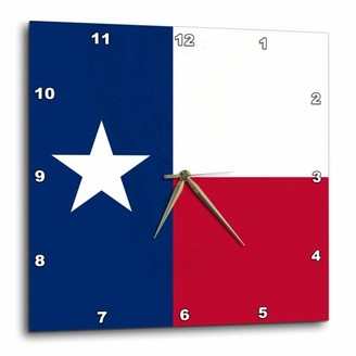 3dRose Flag of Texas TX - US American United State of America USA - blue red white - The Lone Star Flag, Wall Clock, 13 by 13-inch