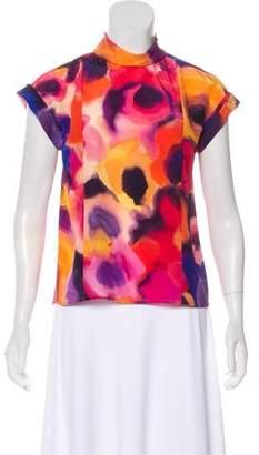 Chanel Silk Watercolor Top