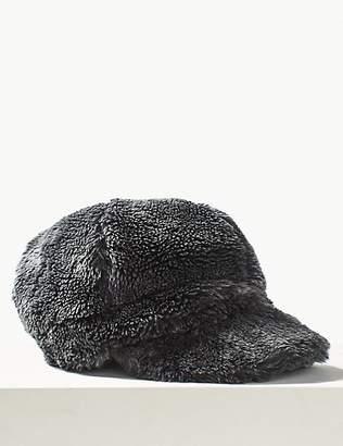 M&S Collection Faux Fur Baker Boy Hat