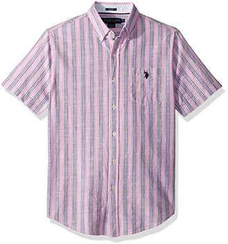 U.S. Polo Assn. Men's Short Sleeve Slim Fit Striped Shirt