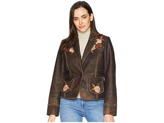 Scully Connely Embroidered Ladies Leather Jacket