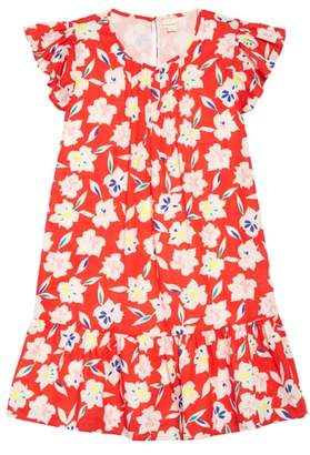 J.Crew crewcuts by Floral Ruffle Trim Dress