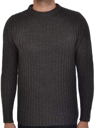 Brave Soul Mens Surgeon Chunky Cable Knit Crew Neck Pullover Jumper Top Gry - M